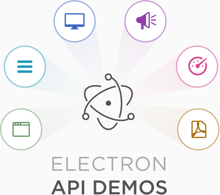 Screenshot of Electron API Demos app